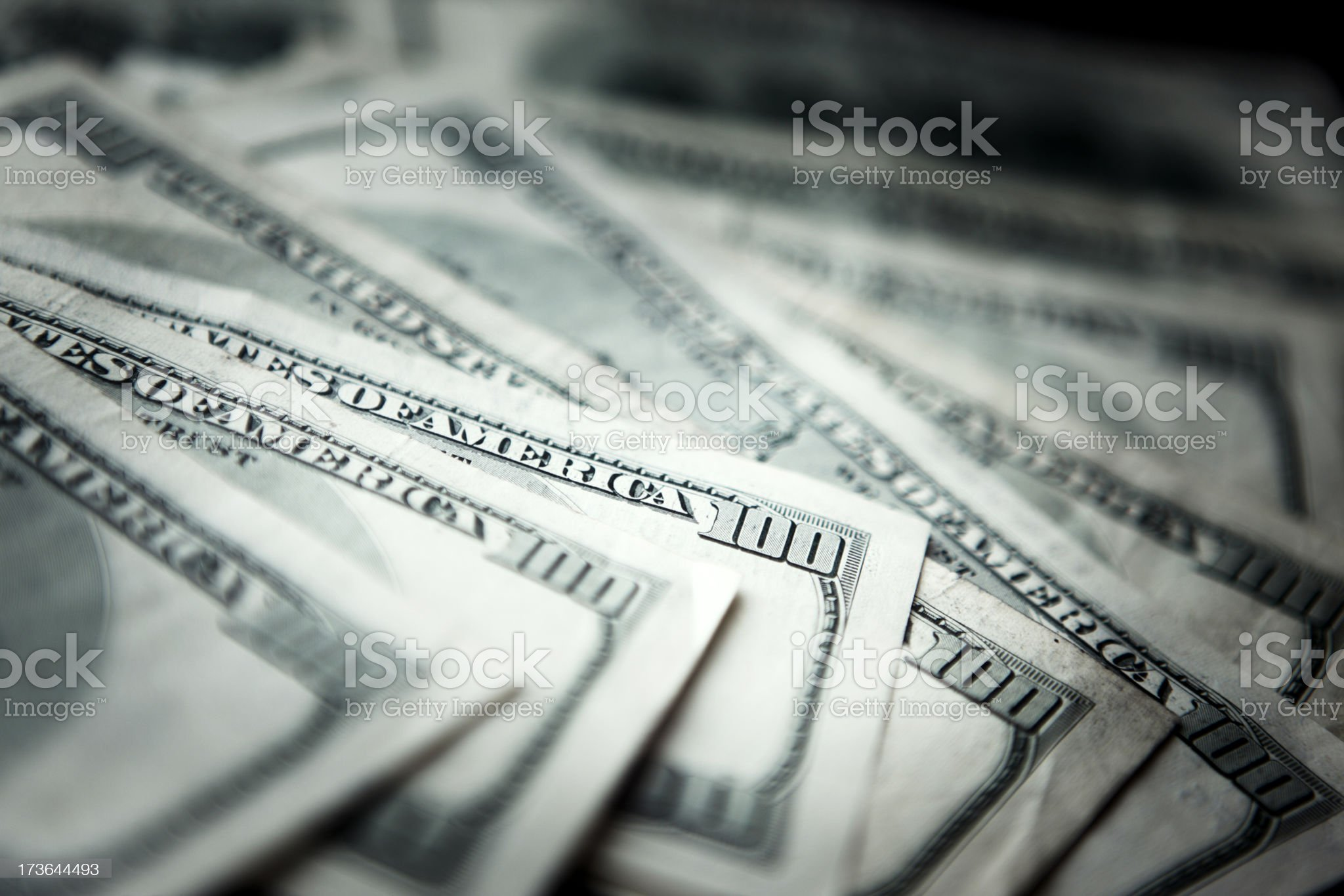 Dollar 100 Bills 1000 royalty-free stock photo