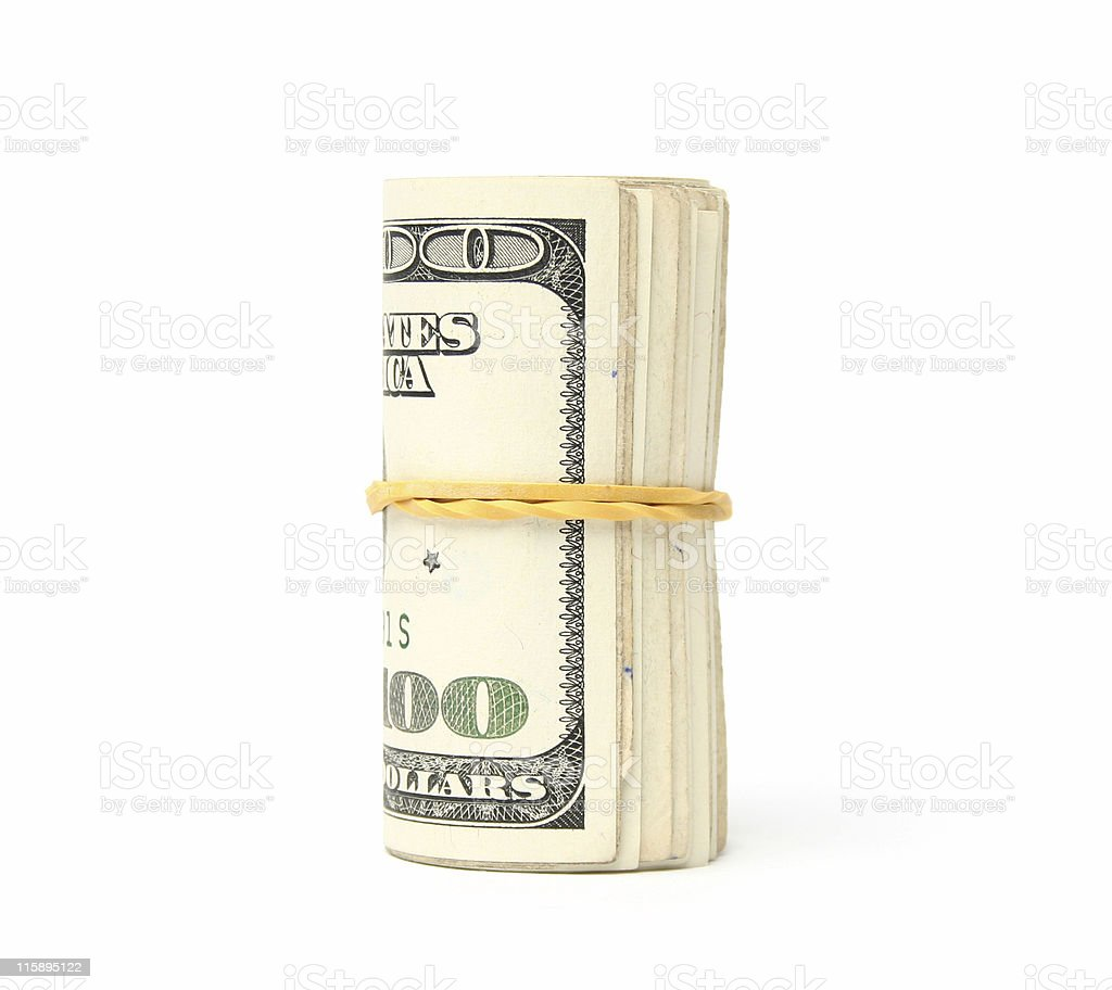 Dollar 100 bills stock photo