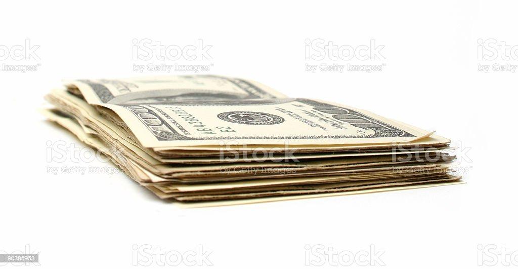 Dollar 100 bills royalty-free stock photo