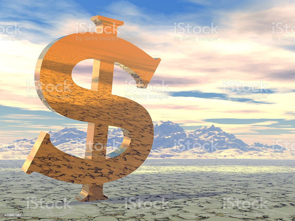 Dollar A Day royalty-free stock photo