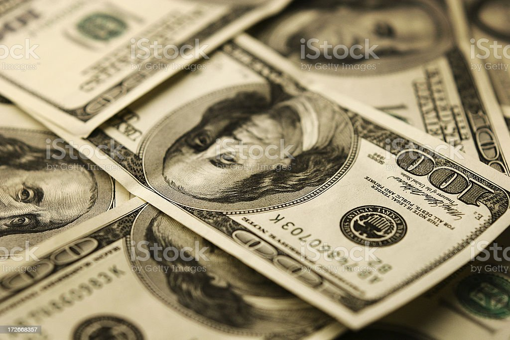 Dollar - A lot of money 3 royalty-free stock photo