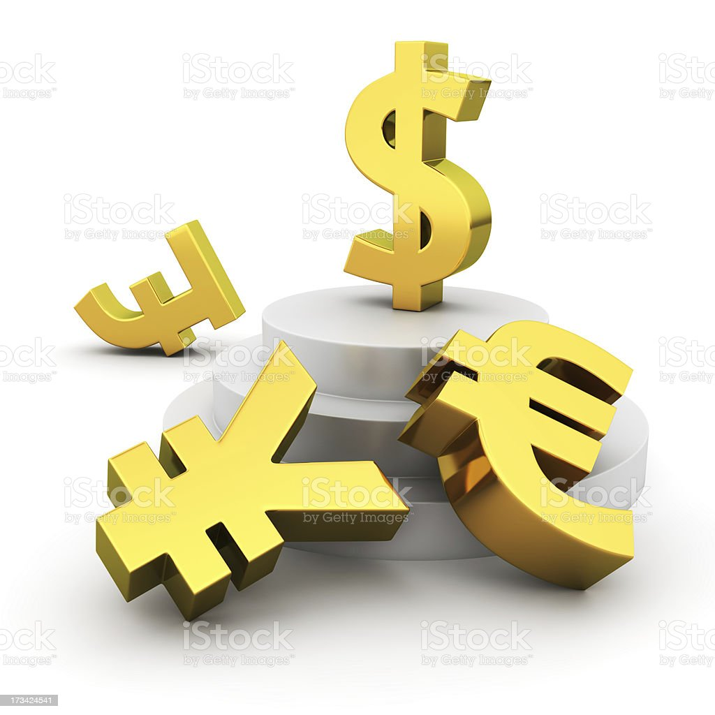Dollar advantage royalty-free stock photo