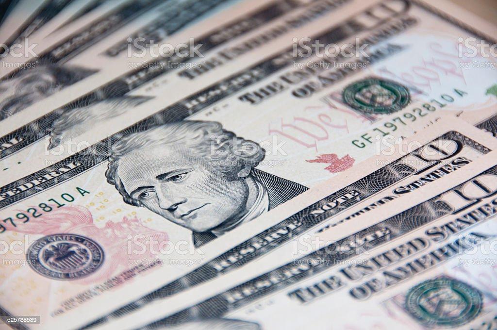 US Dollar, Alexander Hamilton stock photo