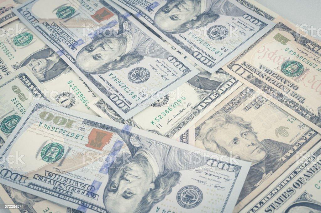 Dollar bank background. stock photo