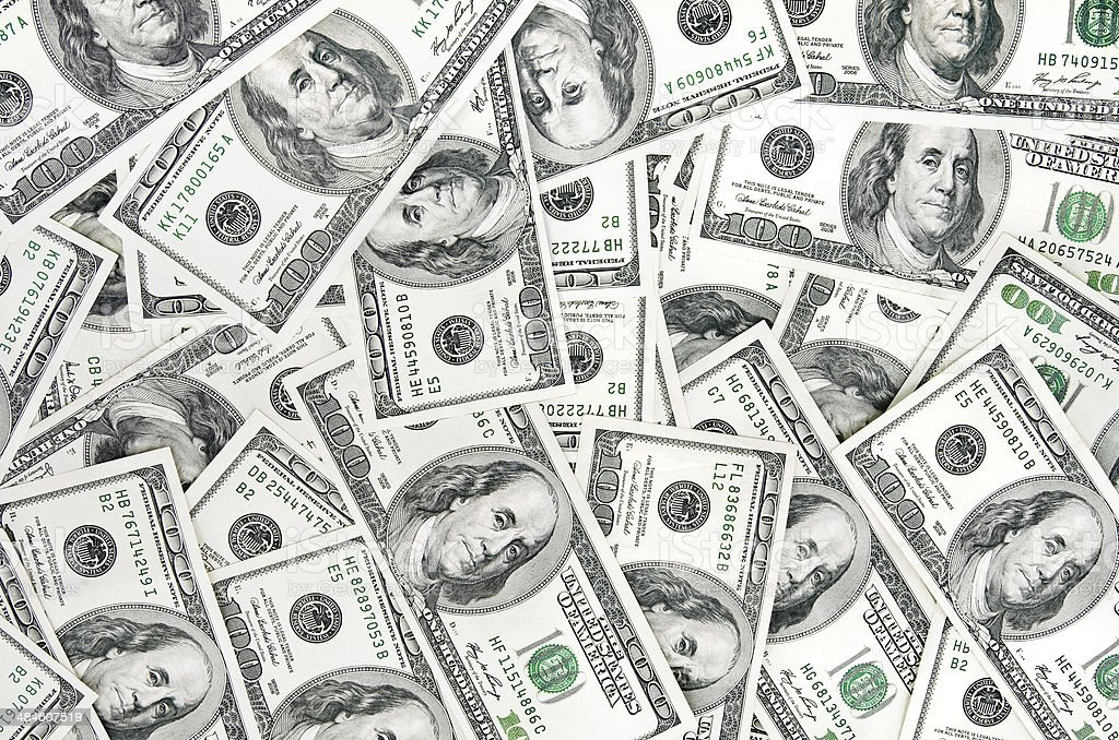 Dolarów pieniędzy tło bank Uwaga zbiór zdjęć royalty-free