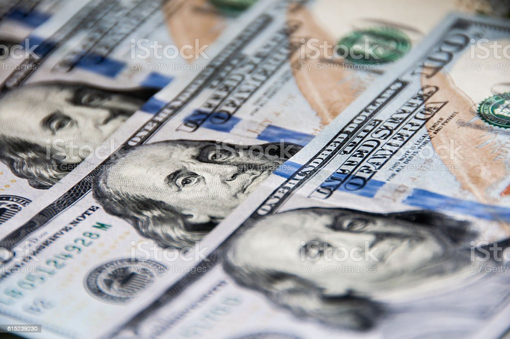 US Dollar, Banknote $ 100 stock photo