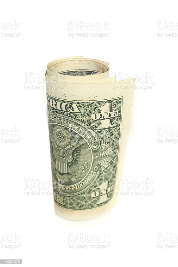 US dollar banknote roll royalty-free stock photo