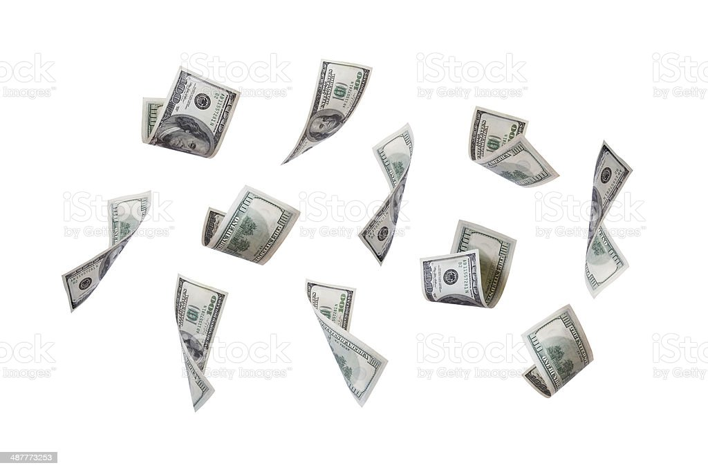 Dollar Banknotes Flying stock photo