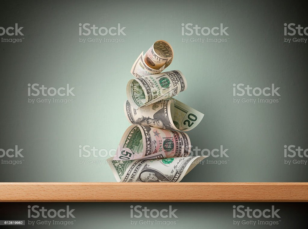 Dollar banknotes stock photo