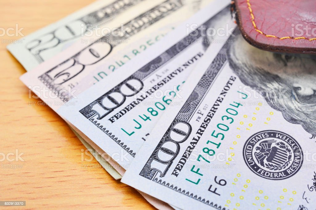 Dollar (USD) banknotes stock photo