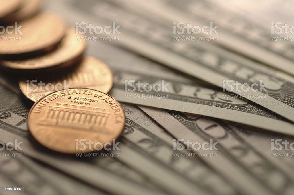 dollar banknotes series stock photo