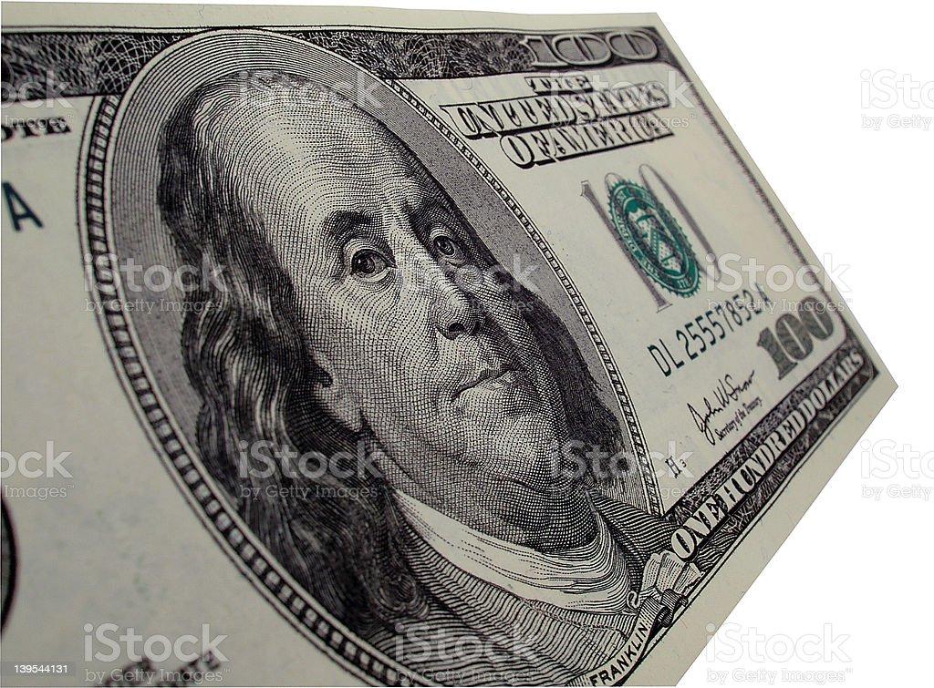 100 Dollar Bill - Ben Franklin royalty-free stock photo