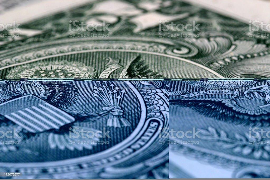 Dollar Bill Eagle - Macro royalty-free stock photo