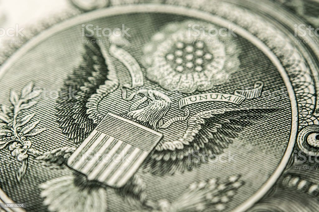 US dollar bill, eagle stock photo