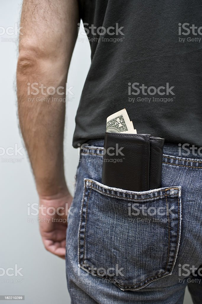 Dollar Bill in a Wallet royalty-free stock photo