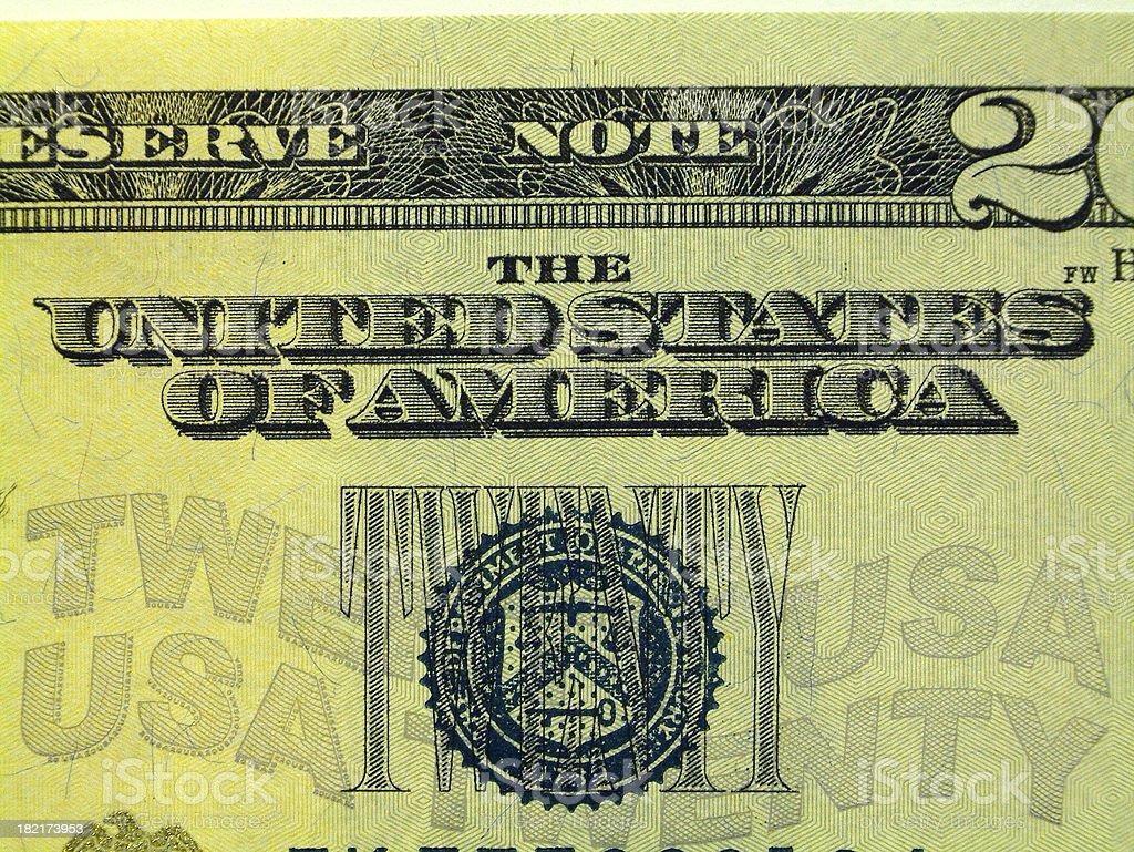 US dollar bill series stock photo