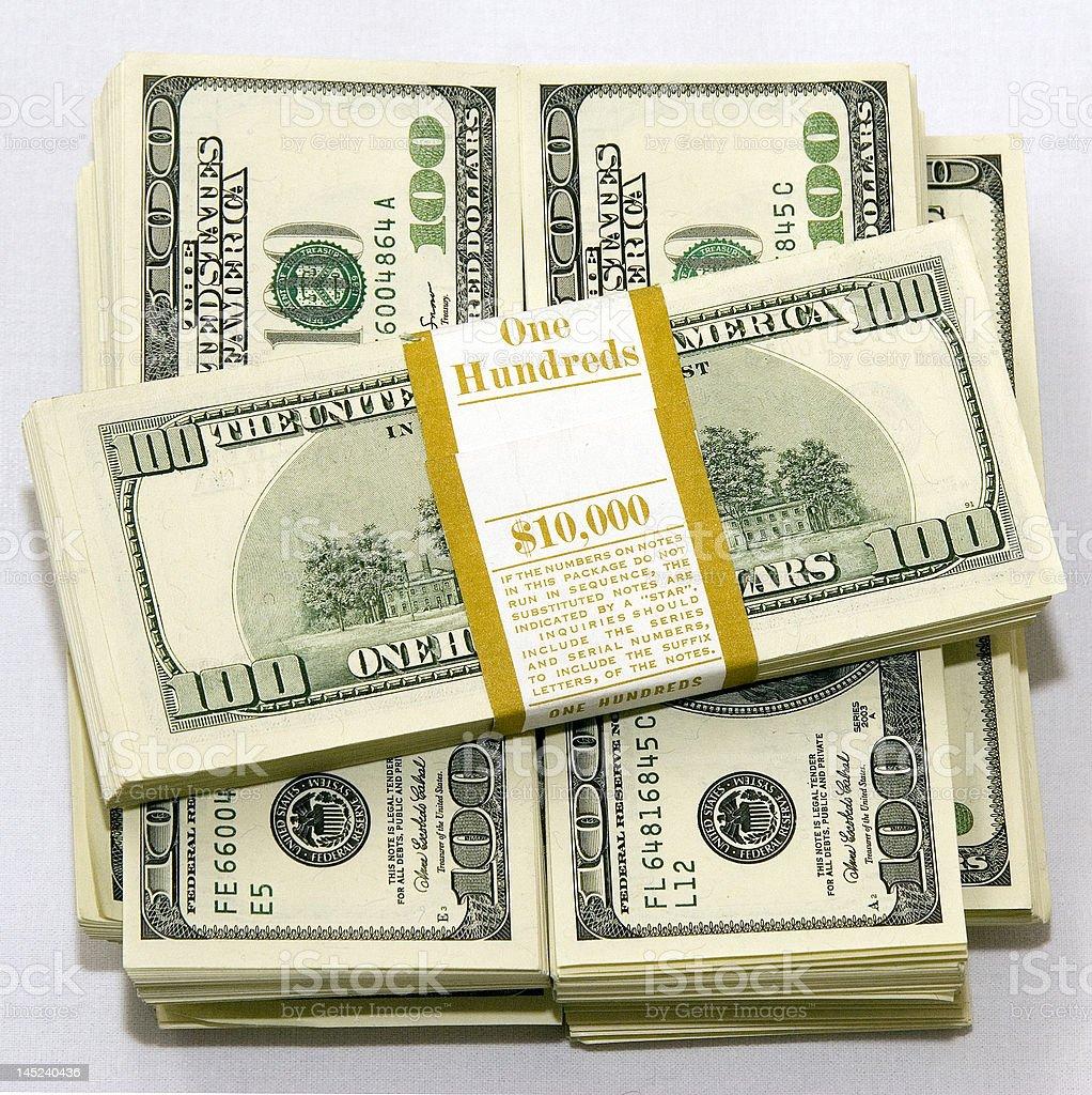 $100 dollar bills royalty-free stock photo