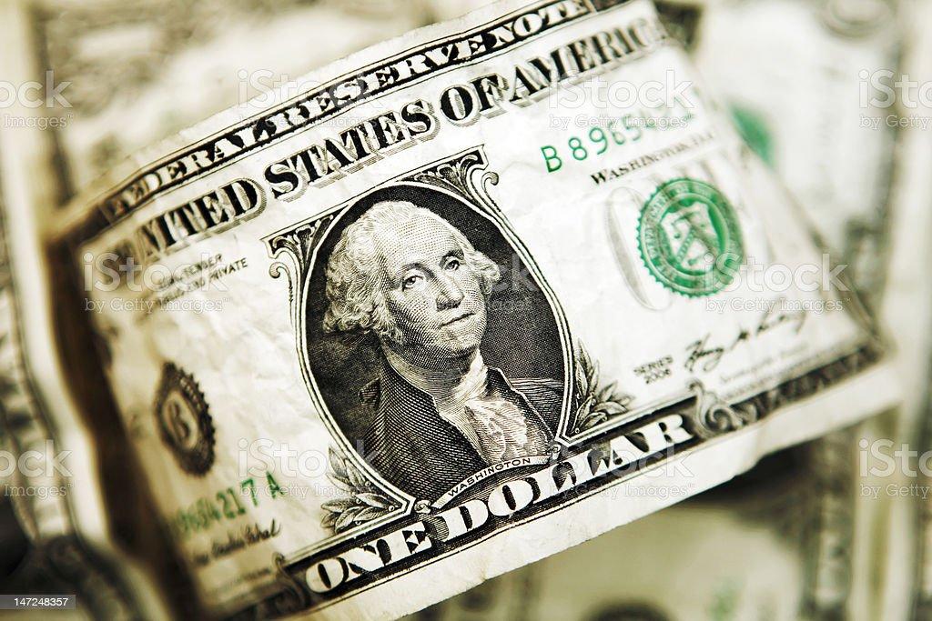 U.S. Dollar Bills royalty-free stock photo