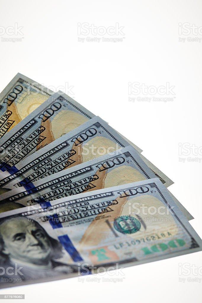 US dollar bills stock photo