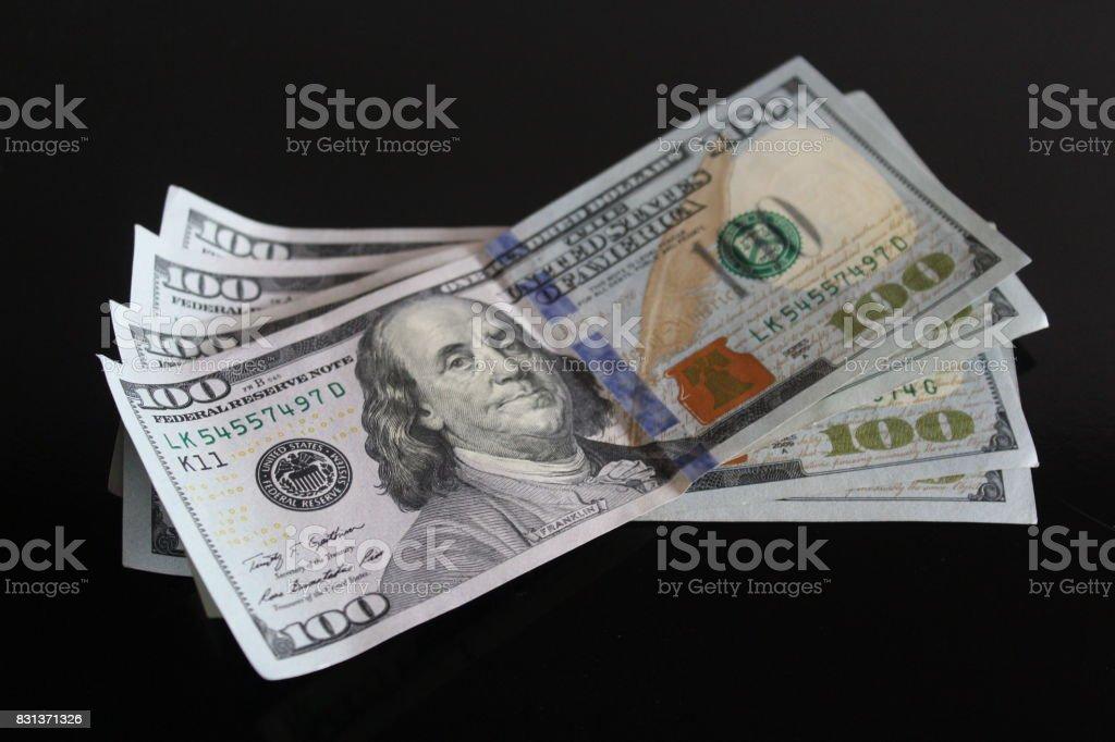 dollar bills stock photo