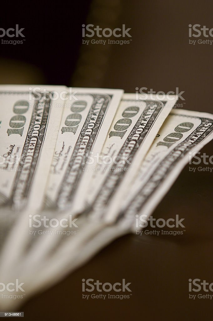 $100 Dollar bills stock photo