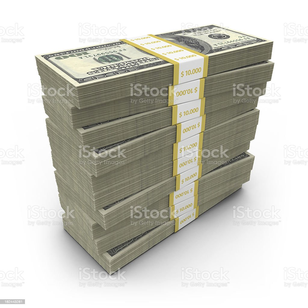 dollar bills stack royalty-free stock photo