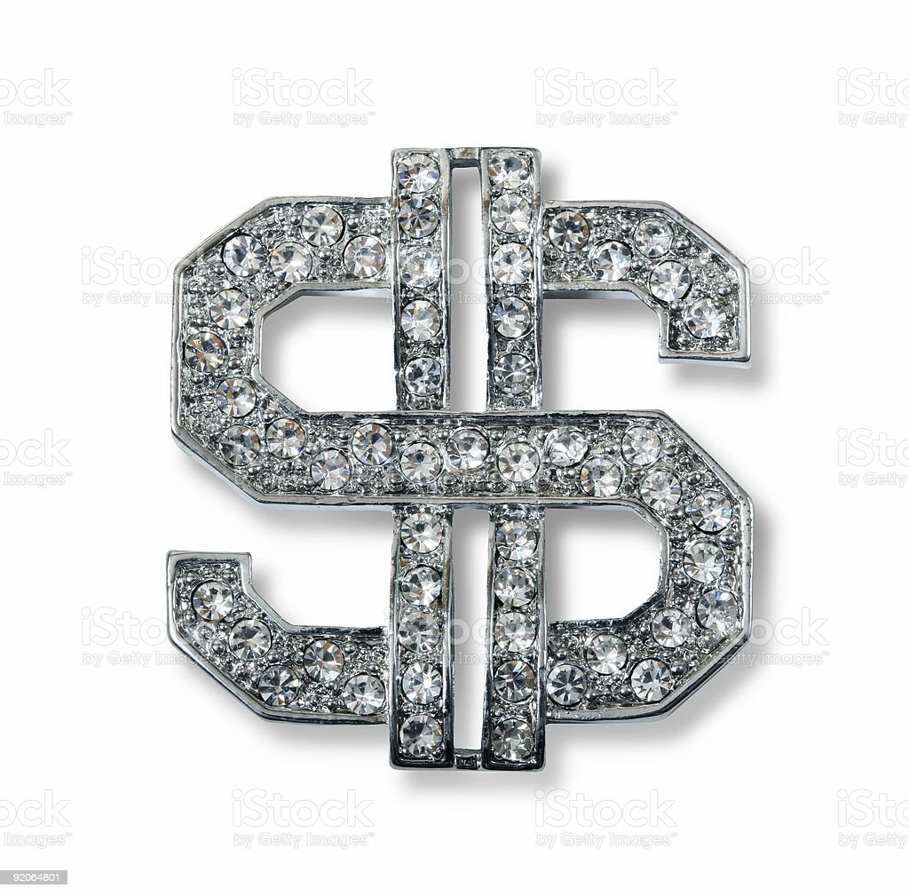 Dollar bling stock photo