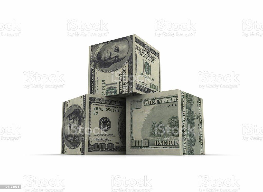 Dollar Blocks royalty-free stock photo