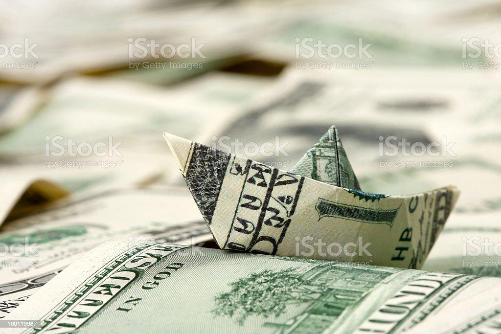 Dollar boat stock photo