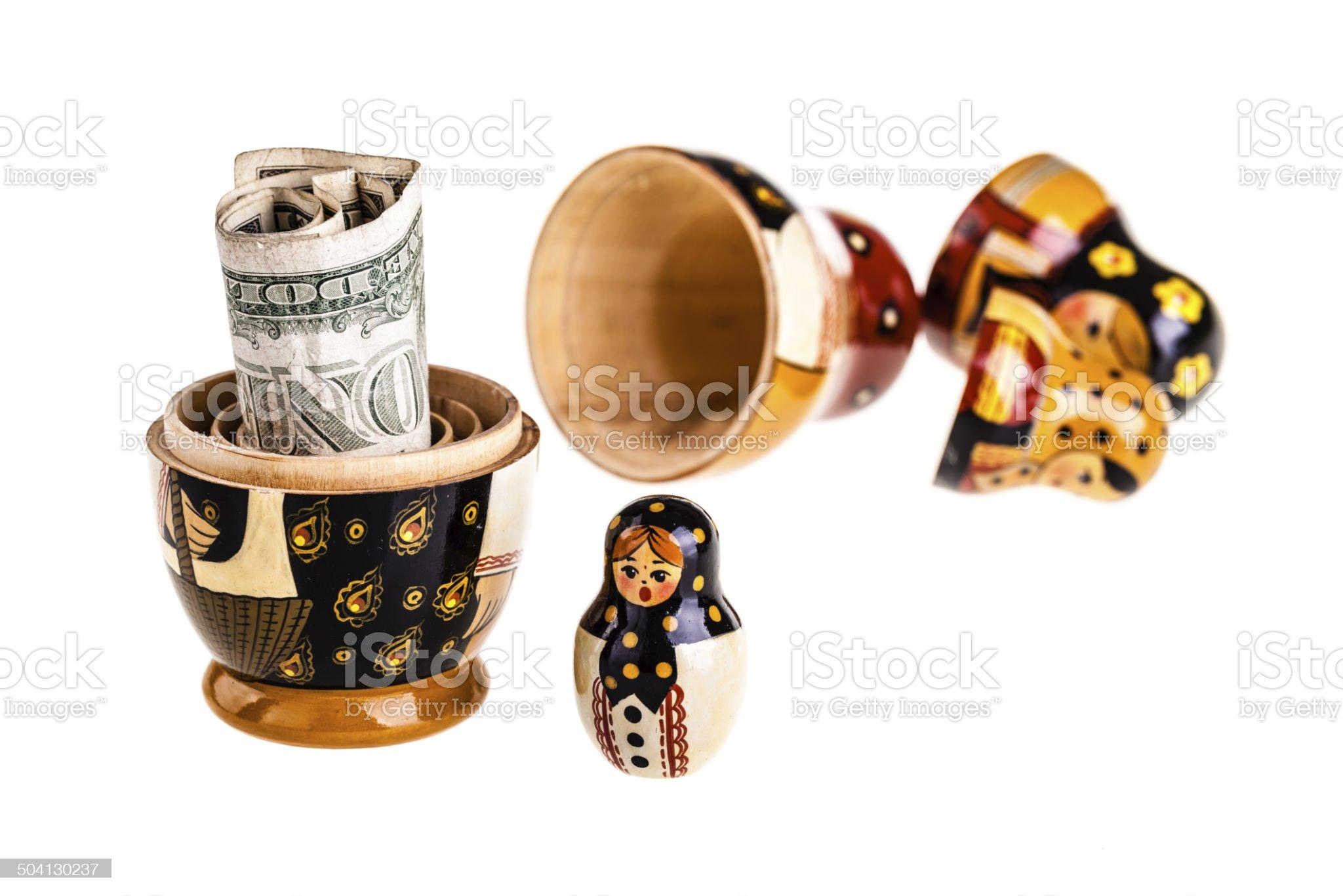 Dollar bonus royalty-free stock photo