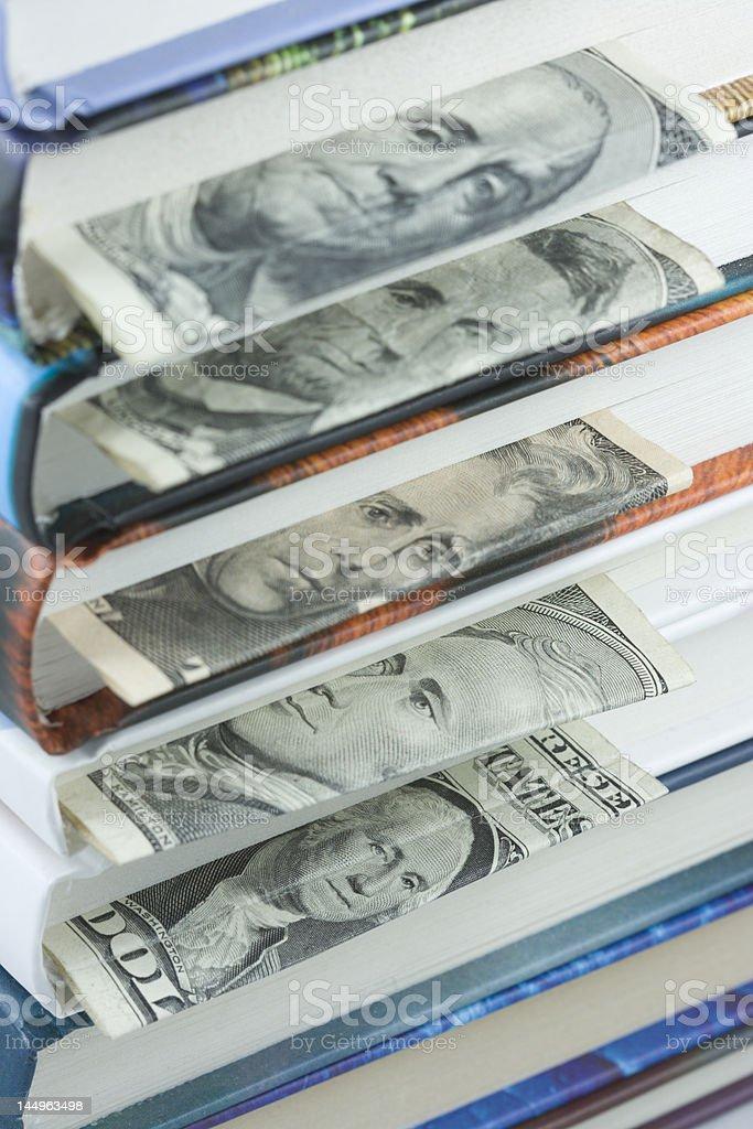 Dollar bookmarks stock photo