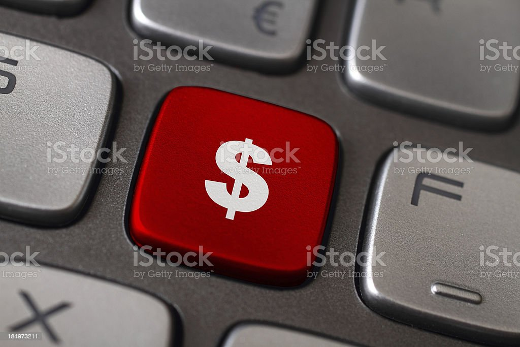 Dollar Button royalty-free stock photo