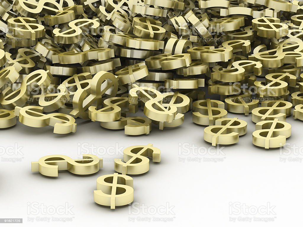 Dollar cascade royalty-free stock photo