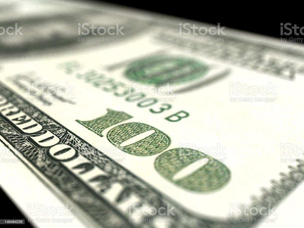 Dollar close up royalty-free stock photo