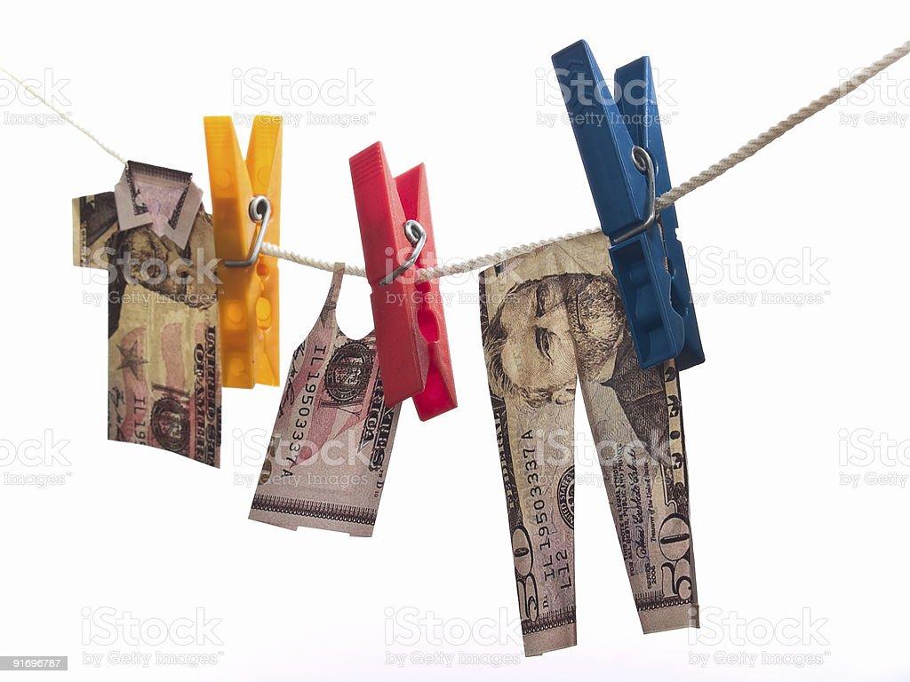 Dollar cloth stock photo