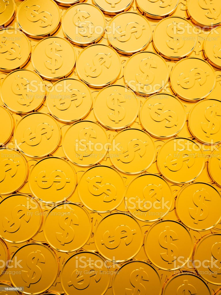 Dollar Coin Background royalty-free stock photo
