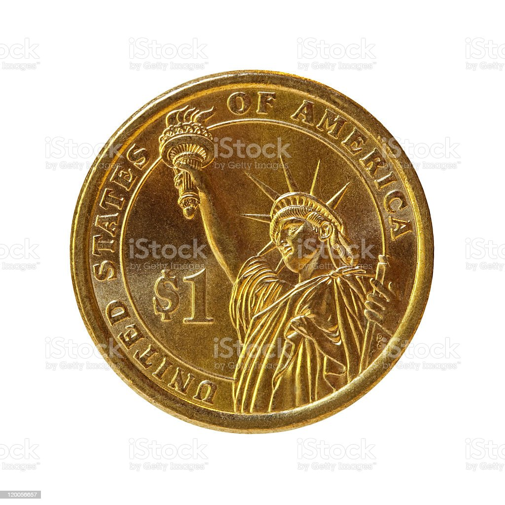 Dollar Coin (with Path) stock photo