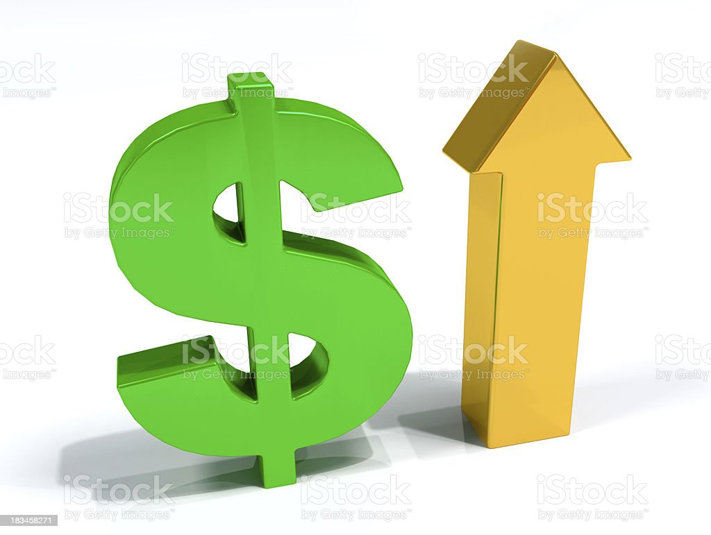 Dollar currency improvement 3D royalty-free stock photo