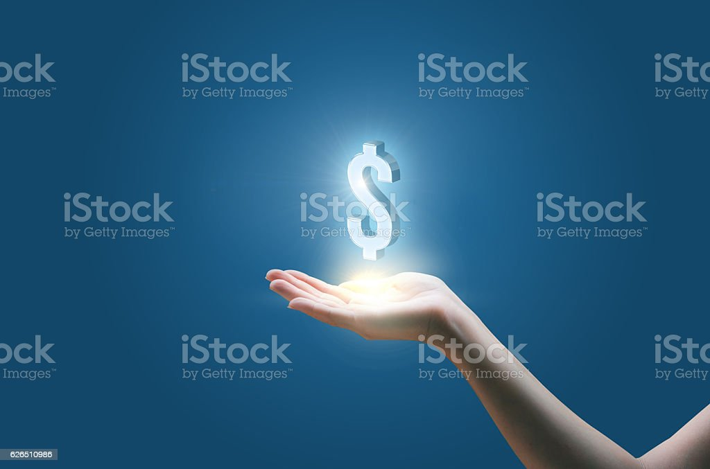 Dollar currency symbol stock photo
