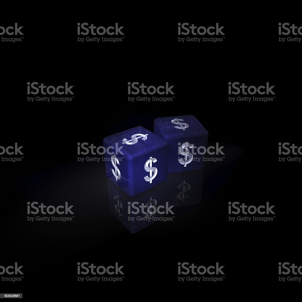 dollar dice, winning odds stock photo