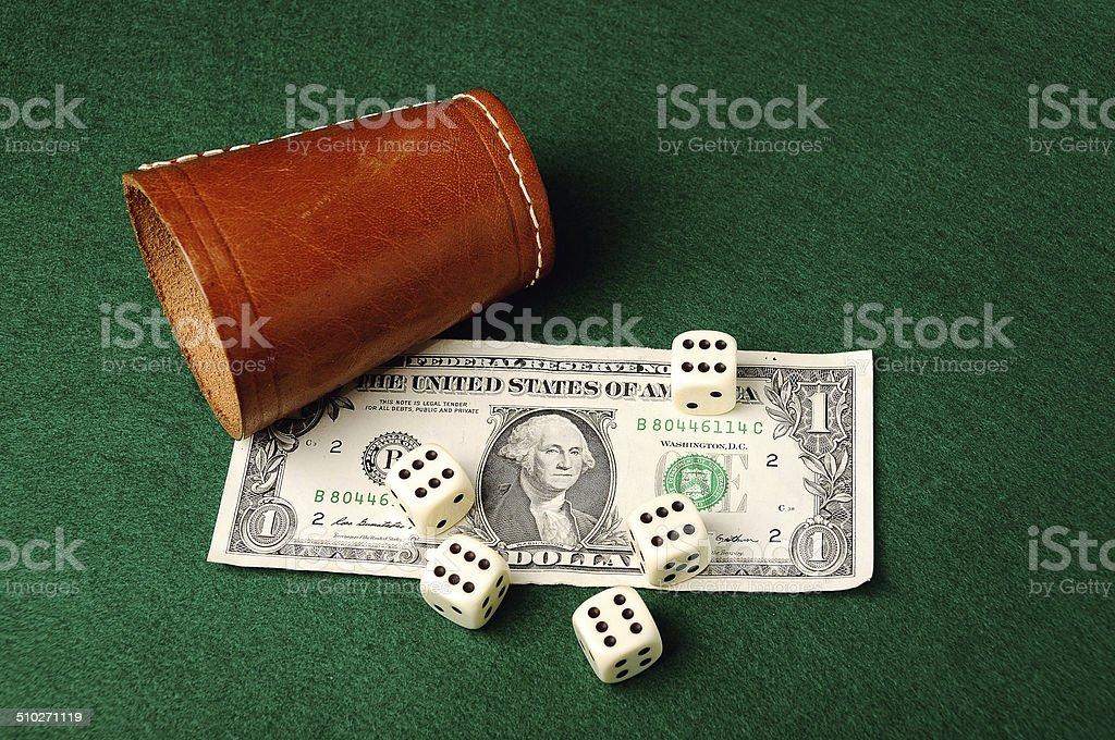 dollar dices stock photo