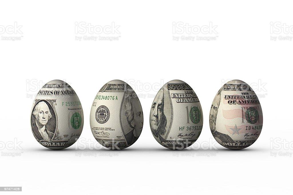 dollar eggs royalty-free stock photo