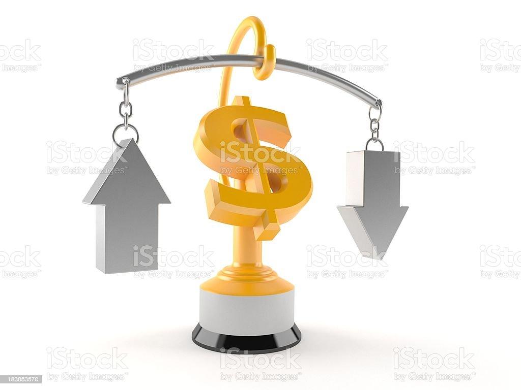 Dollar exchange rate royalty-free stock photo