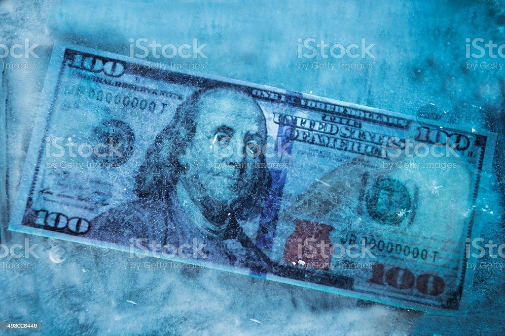 Dollar frozen stock photo