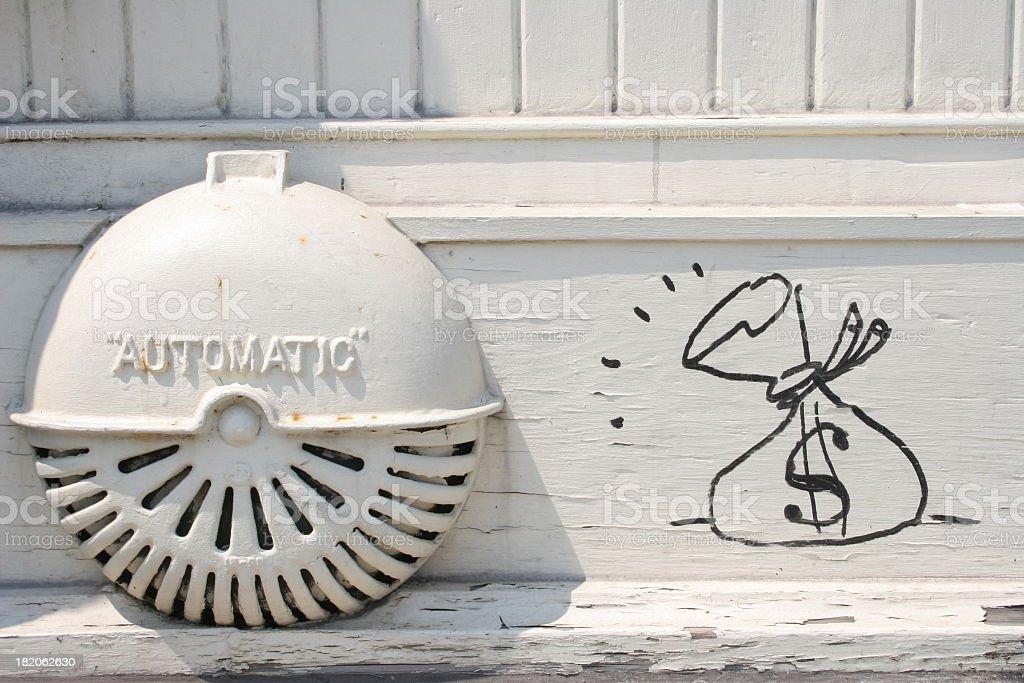 Dollar graffiti royalty-free stock photo