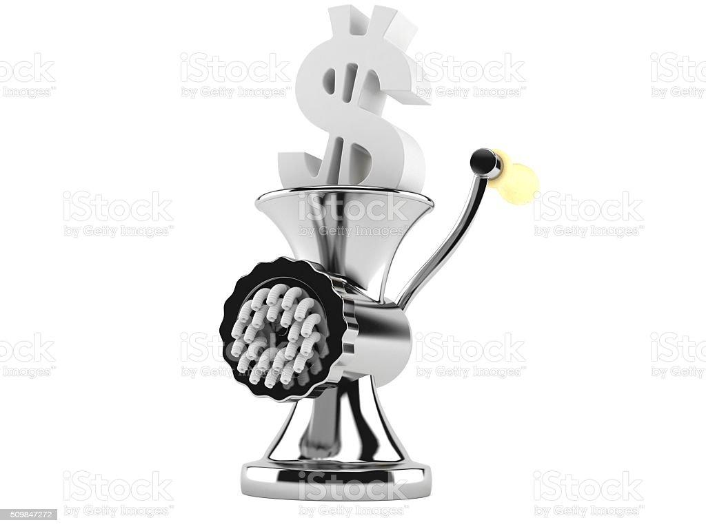 Dollar grind stock photo