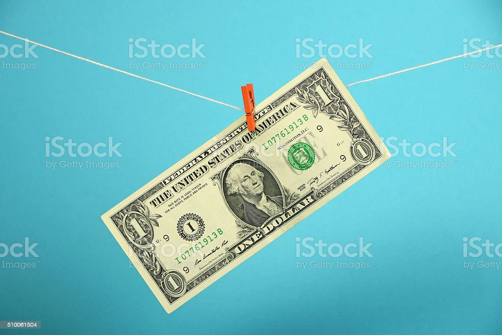US dollar growth illustrated over blue royalty-free stock photo