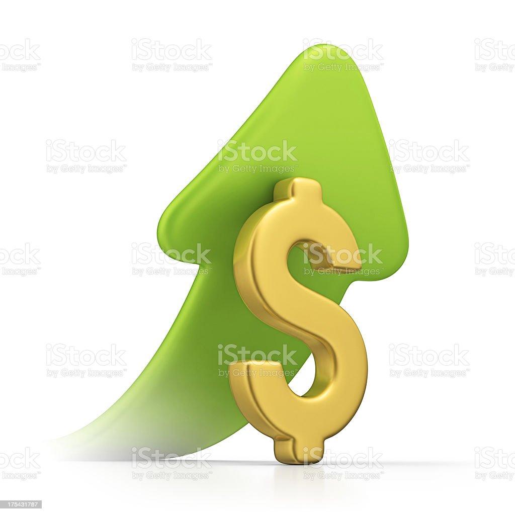 dollar growth stock photo