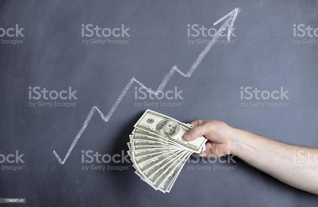 dollar growth royalty-free stock photo