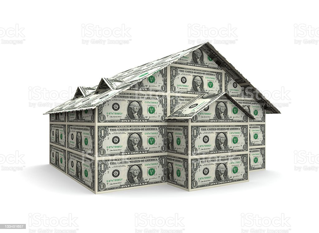 Dollar House (XXL) royalty-free stock photo